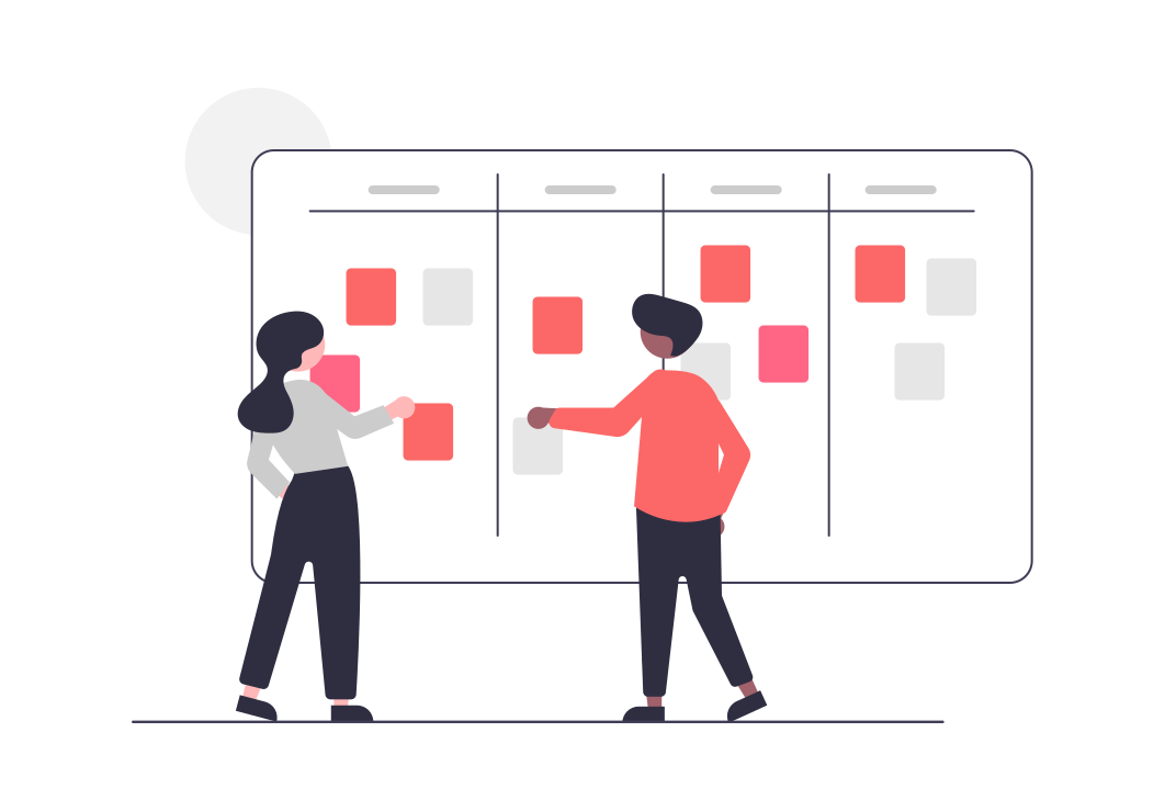 An agile project management methodology involves the use of a Kanban board